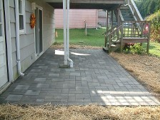 paver patio, drainage solution